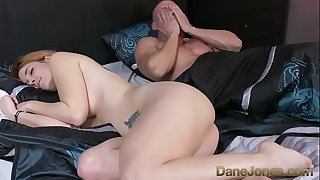 Dane Jones Horny wife bitchy by room service while husband sleeps