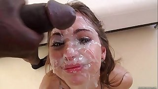 Group sex Teenage hot cum face