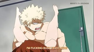 boku no hero academia Uraraka and  Bakugo done by nightly-krumbs