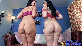 Mandy Muse & Valentina Cracking Big butts & Beyond Muscly Butt Bring Back -Laz Fyre