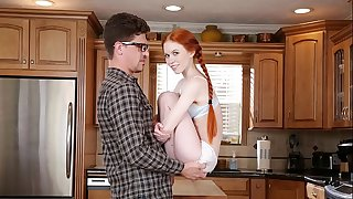 DON'T FUCK MY DAUGHTER - Petite Redhead Teenager Dolly Little Fucks Her Big Dick Tutor Bruce Venture