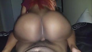 She rides my cock- BIG ASS