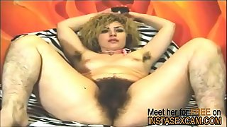 Hairy Tina demonstrates her awesome pussy