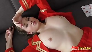 Beautiful Stewardess in Takes Big Monster Black Dick in her Tight Pink Cunt