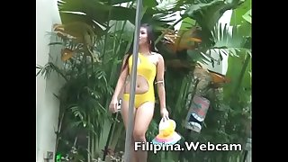 Filipina.webcam webcam girls sexy swimsuit pool party competition in the Philippines