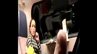 Tricky dick flash in public train to MILF who observing PublicFlashing.me